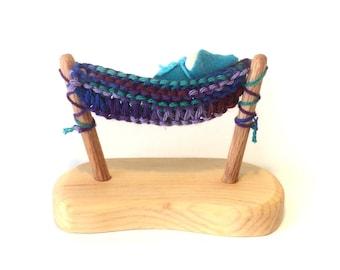 Hammock with little gnome purple rainbow color