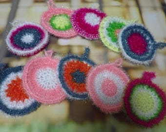 Set of  5, Homemade Crochet Dish Cloth, Scrubbies, Scrubber, Scrubby