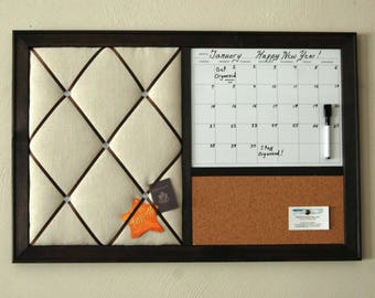 Dry Erase Calendar, Cork board, French Memo Board, Wall Organizer, Entryway Organizer, Monthly Magnetic Whiteboard Calendar, Command Center