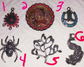 Pendant findings lot of 6