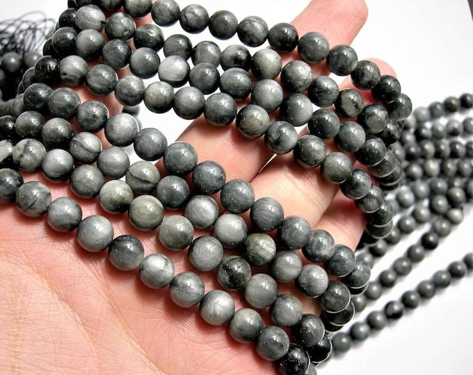 Chrysoberyl  - 8mm(8.4mm) round beads - full strand - 47 beads - A QUALITY - RFG1515