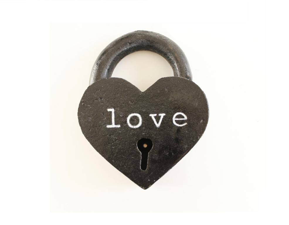 Black Heart Lock personalized 6th anniversary gifts for him