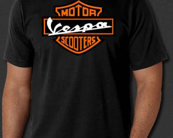 Vespa Motor Scooters Cycles Wasp New T-shirt S-6XL