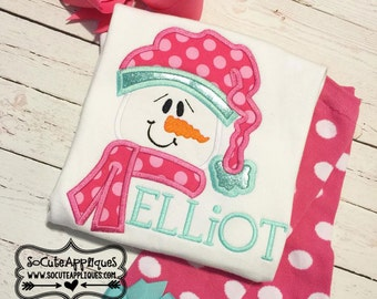 Snowman applique, socuteappliques, Christmas embroidery, Christmas applique, Embroidery design 5x7 6x10 snowman embroidery, winter applique