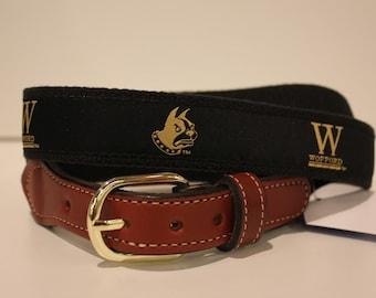 Wofford  Men's  Web Leather Belt