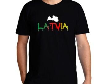 Dripping Latvia T-Shirt