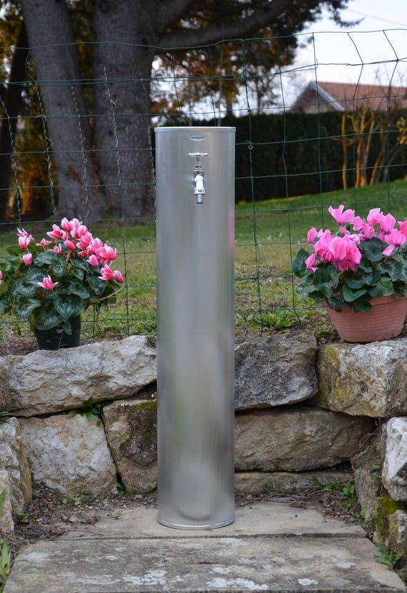 Fontaine de jardin zinc naturel PAVOT Misterzinc