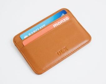 Genuine Leather Card Holder - Brown