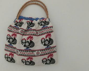 Cute vintage woven portugal handbag