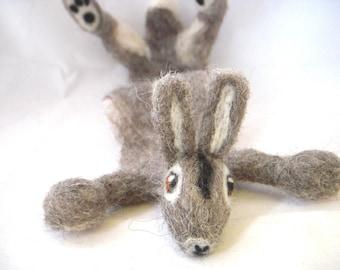 Splat - custom animal bookmark - Personalised Sculpture Bookmark - Needle felted rabbit art