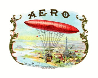 Aero Vintage Paris Wall Art Vintage Hot Air Balloon Decor Vintage Aviation Art Paris Room Decor Paris Wall Decor Paris Decor 11x14 Giclee