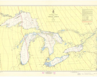 Chart of the Great Lakes 1967