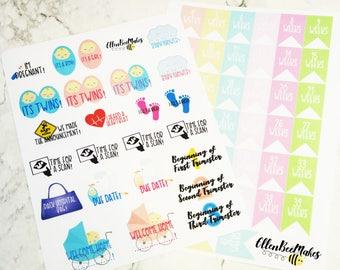 Pregnancy Planner Stickers