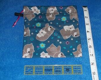 Cute Bears Handmade Drawstring Bag