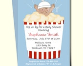 Items similar to ready to pop baby shower invitation cute popcorn ready to pop baby shower invitation cute popcorn babyshower invitations african american girl baby shower printable filmwisefo
