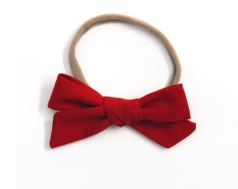 Red Medium Knotted Bow