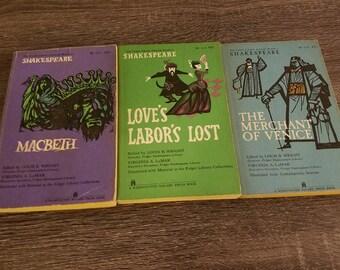 Vintage Shakespeare Plays Rare 1960s Classic Literature Books