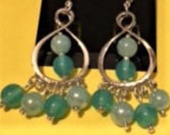 Lt. Aqua Chandelier Earrings
