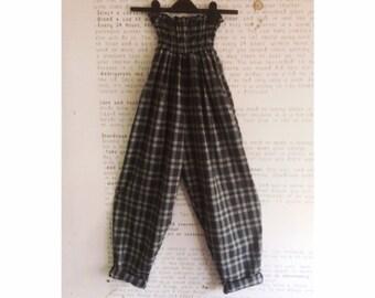 Grey check high waist trousers 8/14