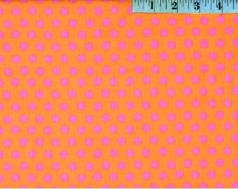Kaffe Fassett Classics Rowan and Westminster Spot Peach GP70PEAC Polka Dots Half Yard Cut and Yardage Available