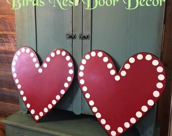 Pair of Heart door Hangers