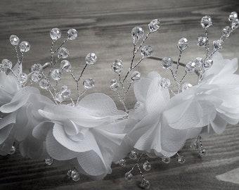 Gorgeous, Handmade Floral Bridal Hair Accessory/Bridal Hair Band