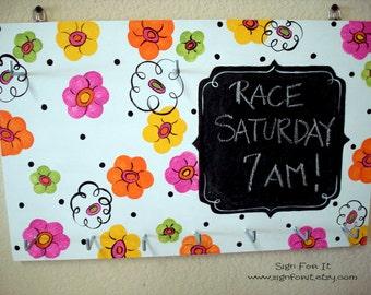 Girly Race Bib Holder
