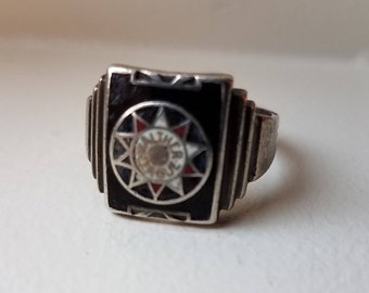 Silver Walther League Ring by Robbins Co Sterling