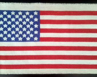 Cross Stitched American Flag