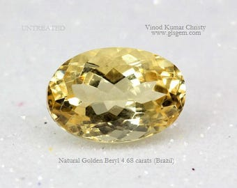 Golden Beryl 4.68cts