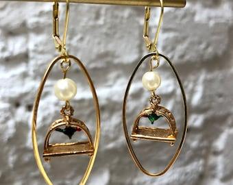 Vintage Bird Cage Earrings