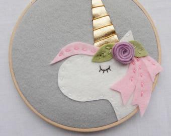 Unicorn Mom. Mothers Day. New Mom Gift. Unicorn Kids. Girl Nursery. Boho Nursery. Unicorn Wall Art. Felt Embroidery Hoop Art. Catshy Crafts