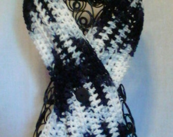 College Football Black and White Cowl Neckwarmer