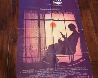 The Color Purple Original 1985 movie poster Alice Walker Spielberg