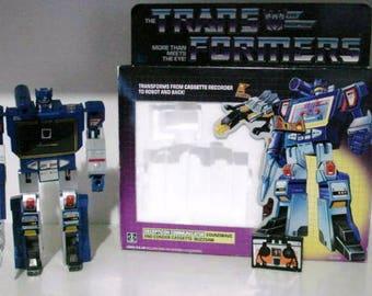 vtg 1984 transformers g1 action figure soundwave x buzzsaw 100% complete decepticons