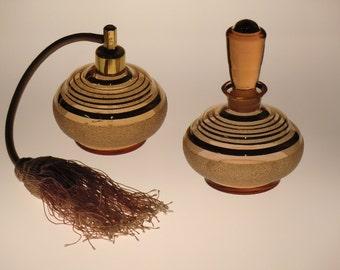 Bohemian Czech Glass Perfume Bottles Set