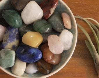 100g+ Big Bag Tumbled Stones - Crystals | 100g | Gemstones | Large Crystal | Gem | Tumbe Stone | Colurful | Pick n Mix | Sale | Mixed Bag |