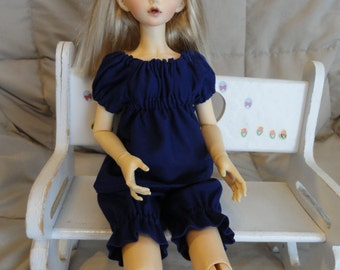 MSD BJD Purple Chemise and Bloomer
