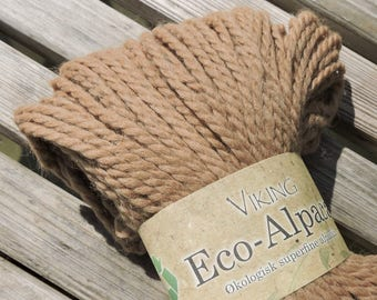 BULKY Weight Yarn -  Superfine Eco-Alpaca by Viking of Norway - 100 g / 137 yards - Tan #408