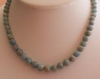 AQUAMARINE - Choker necklace.