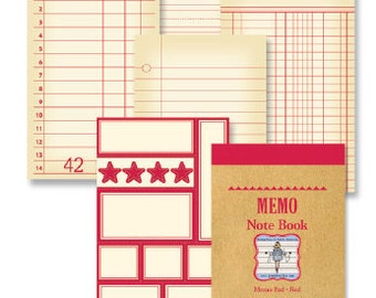 Jenni Bowlin Studios Memo Note Book,  16 Cards, Scrapbooking and Paper Crafting Supplies