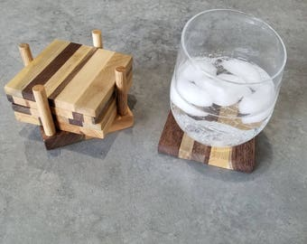 Hardwood Coaster Set