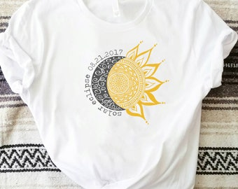 Solar Eclipse doodle Unisex tee