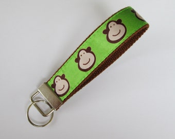 Monkey Keychain for Women, Cool Keychains for Women, Monkey Lanyard Keychain, Cute Wristlet Lanyard, Cute Key Fobs