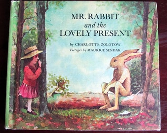 Maurice Sendak Picture Book by Charlotte Zolotow Mr. Rabbit and the Lovely Present Harper & Row Edition