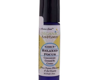 Kids FOCUS Essential Oil Blend| Organic Aromatherapy Oil | Concentration, Focusing, Centering, Hyperactivity, Impulsive Behavior, ADD/ADHD