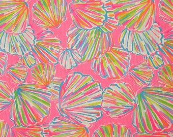 "18""x18"" SHELLABRATE | Lilly Pulitzer Jacquard Cotton Fabric"
