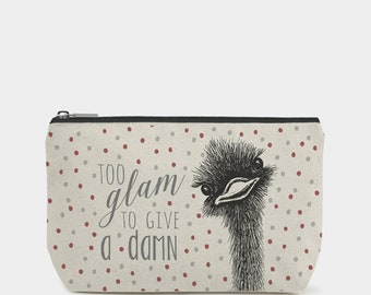 East of India Too Glam to Give a Damb Cosmetic Toiletry Bag