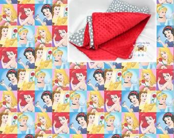 Princess Blanket Disney Princess Toddler Bedding Girl Crib Blanket Cotton Minky Blanket Princess Crib Twin Full Bedding