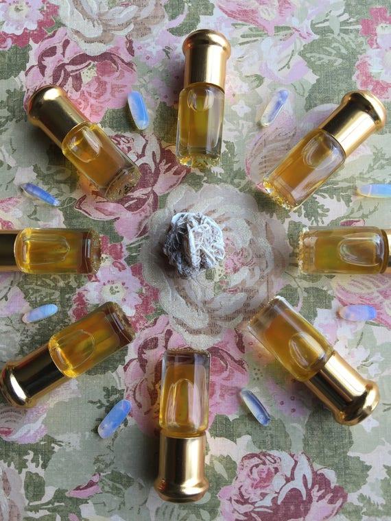 Botanical Perfume Luna Jasmine blend infused with moonstone